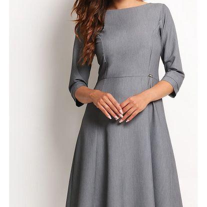 Šedé šaty A112