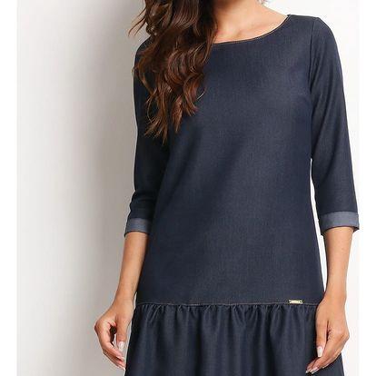 Tmavě modré šaty A118