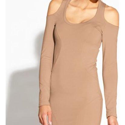 Světle hnědé šaty Epien