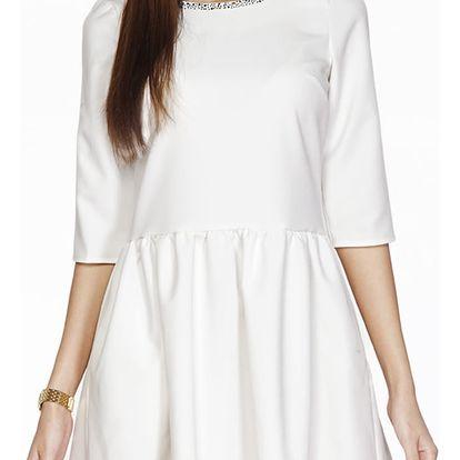 Smetanové šaty ASU0015