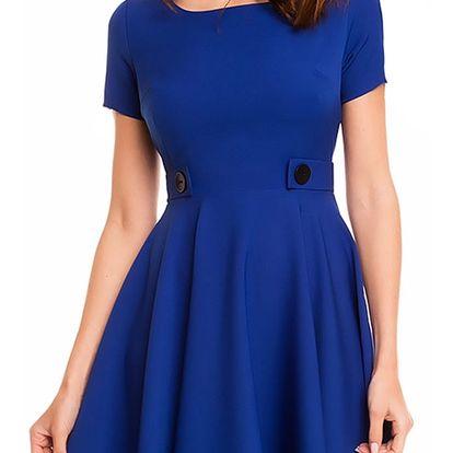 Modré šaty A135
