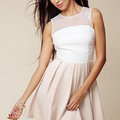 Smetanovo-béžové šaty ASU0005