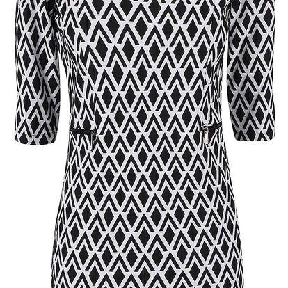 Bílo-černé vzorované šaty Alchymi Deneb