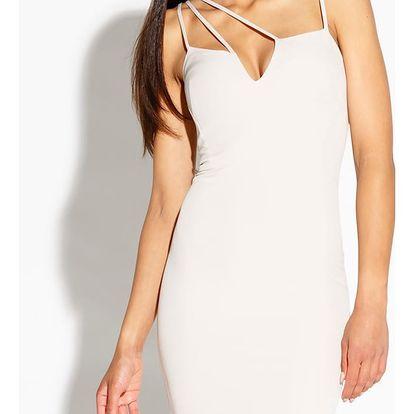 Béžové šaty Royale