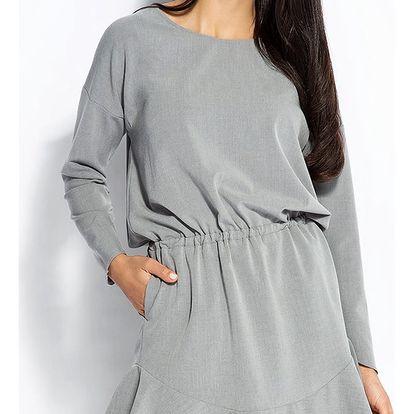 Šedé šaty Flo