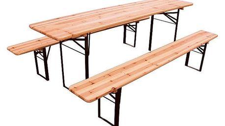 Zahradní set - stůl a dvě lavice 200x50 cm