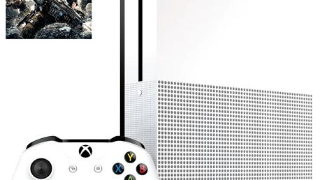 XBOX ONE S, 1TB, bílá + Gears of War 4 - 234-00040