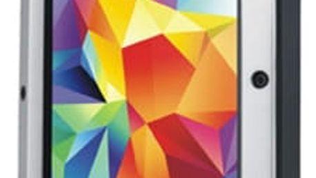 Love Mei Case Samsung GALAXY S5 Three anti protective shell,straight version, Silver+Black - LMC/0104