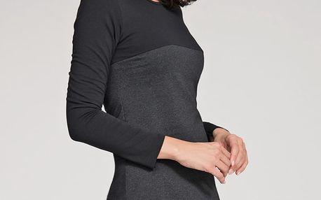 Šedo-černé šaty NU34