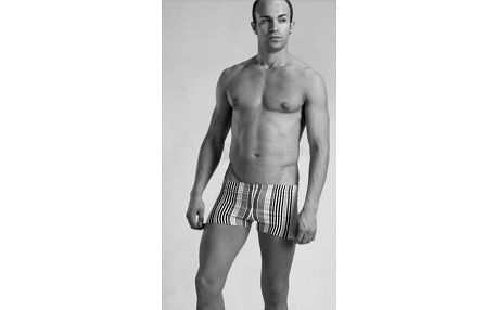 Pánské plavky Geronimo s nohavičkami, pruhované