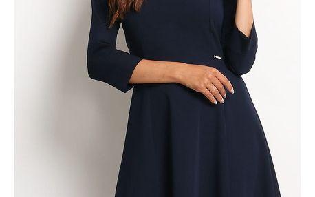Tmavě modré šaty A112