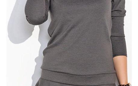 Tmavě šedé šaty NU23