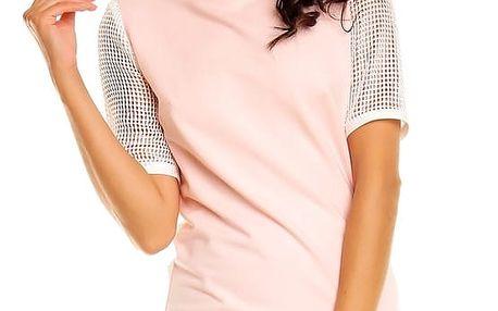 Světle růžové šaty NA14