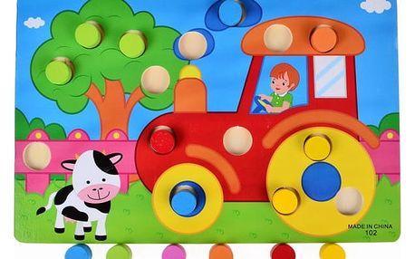 Dřevěná doplňovací hračka pro poznávání barev