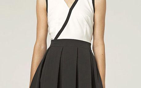 Černobílé šaty S42