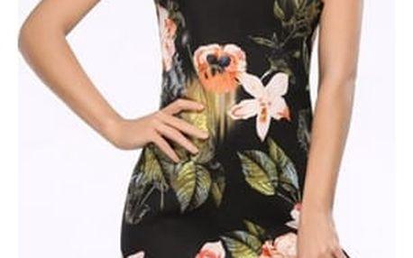 Nádherné letní šaty s motivem květin - 6 velikostí
