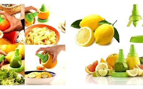Citrus sprej na citróny a limetky - 2ks Sprejové nástavce na citrusy. Skoncujte s okoralými půlkami citrónu, které v různých mističkách hyzdí vaši lednici. Citrus sprej představuje elegantní řešení, jak se napít citronové šťávy, tak aby citron zůstal celý