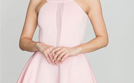 Růžové šaty K270