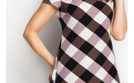 Hnědé šaty A98