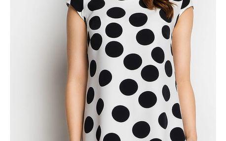 Bílo-černé šaty A99