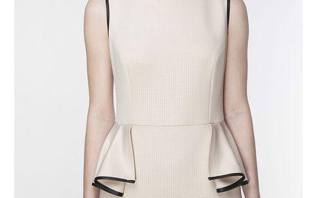 Béžové šaty ASU0008