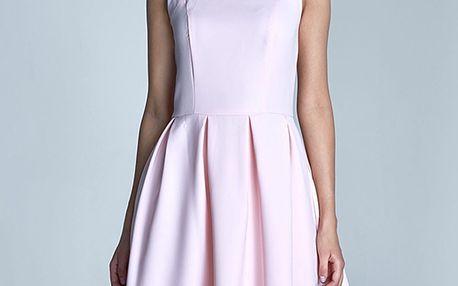 Světle růžové šaty S73