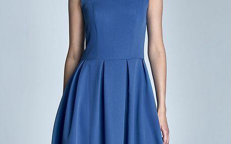 Modré šaty S73