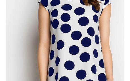 Bílo-modré šaty A99