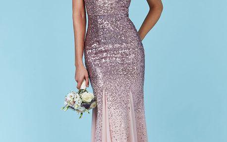 Růžové šaty Rosamunde