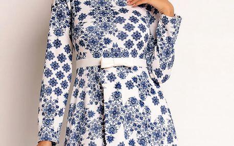 Bílo-modré šaty NA91