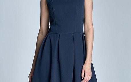 Tmavě modré šaty S73