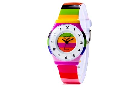 Barevné pruhované dívčí hodinky - dodání do 2 dnů
