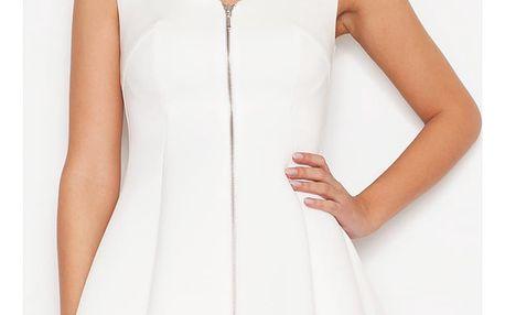 Smetanové šaty K255