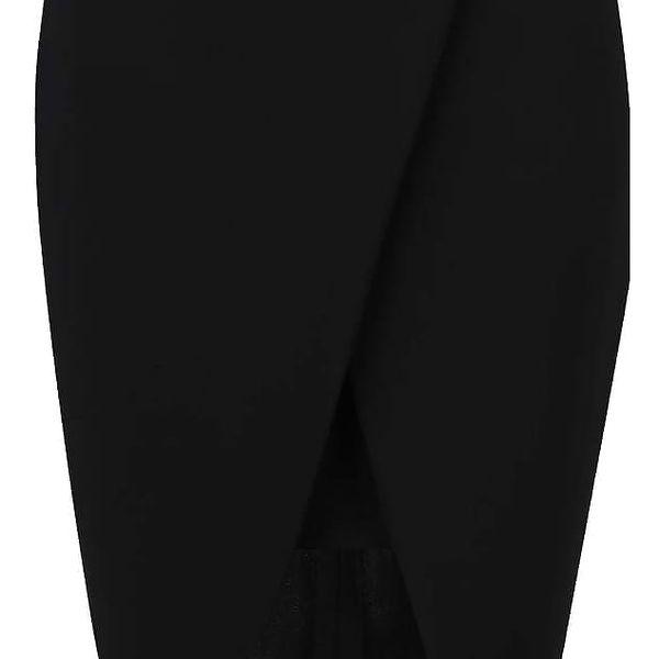 Černá sukně s rozparkem Alchymi Acrux