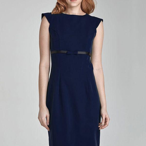 Tmavě modré šaty S36