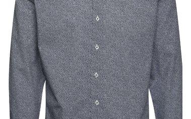 Bílo-modrá slim fit košile s jemným vzorem Seven Seas Orchid