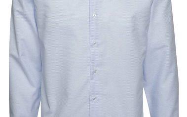 Bílo-modrá vzorovaná slim fit košile Seven Seas Torino