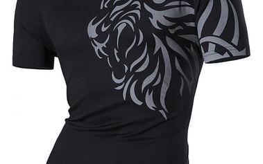 Pánské slim tričko s ornamentem na rameni - 3 barvy