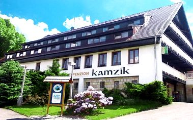 3–4denní pobyt s polopenzí pro 2 osoby v penzionu Kamzík v Českém Švýcarsku
