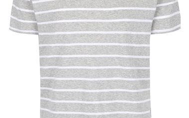 Bílo-šedé pruhované triko Selected Homme Moose