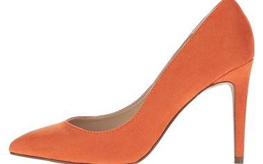 Oranžové lodičky v semišové úpravě Dorothy Perkins