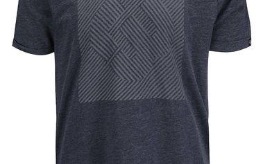 Tmavě modré žíhané pánské triko s potiskem Ragwear Bartie