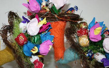 Jarní kytice bonbónů dle výběru