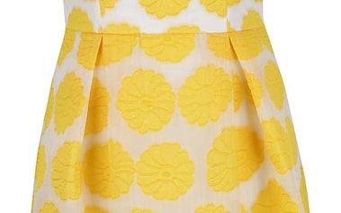 Žluté květované šaty Dorothy Perkins