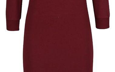 Vínové šaty s 3/4 rukávem ZOOT