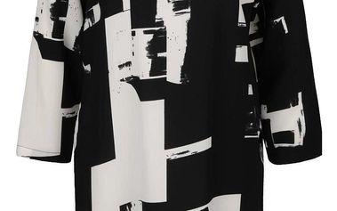 Krémovo-černé volnější šaty s volánem ONLY Max