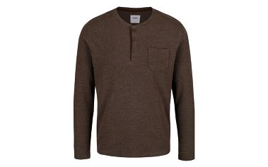 Hnědé triko s náprsní kapsou Burton Menswear London