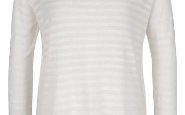 Krémové průsvitné tričko s průstřihem na zádech ONLY Hannah