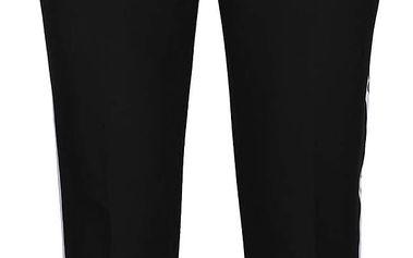 Černé kalhoty s bílým pruhem na vnější straně nohavic TALLY WEiJL
