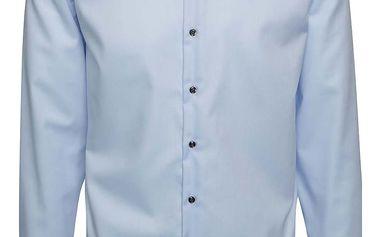 Světle modrá formální slim fit košile Seven Seas Rimini